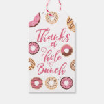 Hand shaped Thanks a Hole Bunch Pink Favor Tags