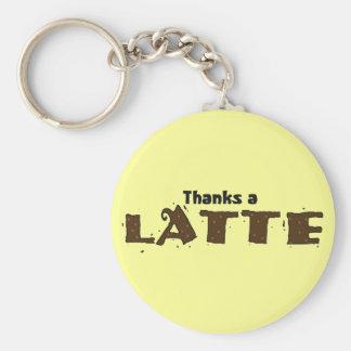 Thanks A Latte Basic Round Button Keychain