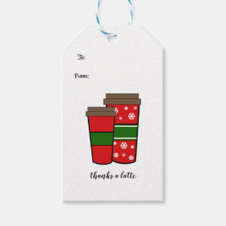 Thanks a Latte Holiday Drinks Gift Tags