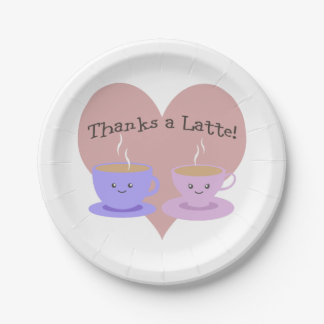 Thanks a Latte Paper Plate