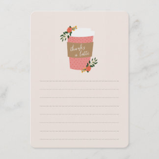 Thanks a Latte Stationery Note Card