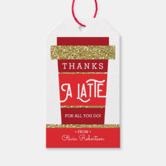 Thanks A Latte, Thank You Tag, Appreciation Gift Tags