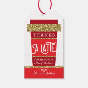 image regarding Thanks a Latte Christmas Printable called Instructor Present Tags Reward Enclosures Zazzle