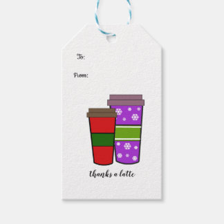 Thanks a Latte Two Holiday Drinks Gift Tags