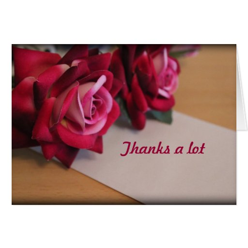 Thanks A Lot Greeting Card Zazzle