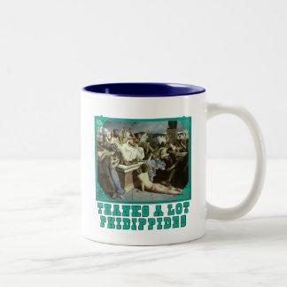 Thanks A Lot Phidippides Funny Marathon Tees Two-Tone Coffee Mug