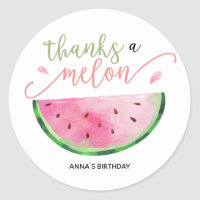 Thanks a Melon thank you sticker