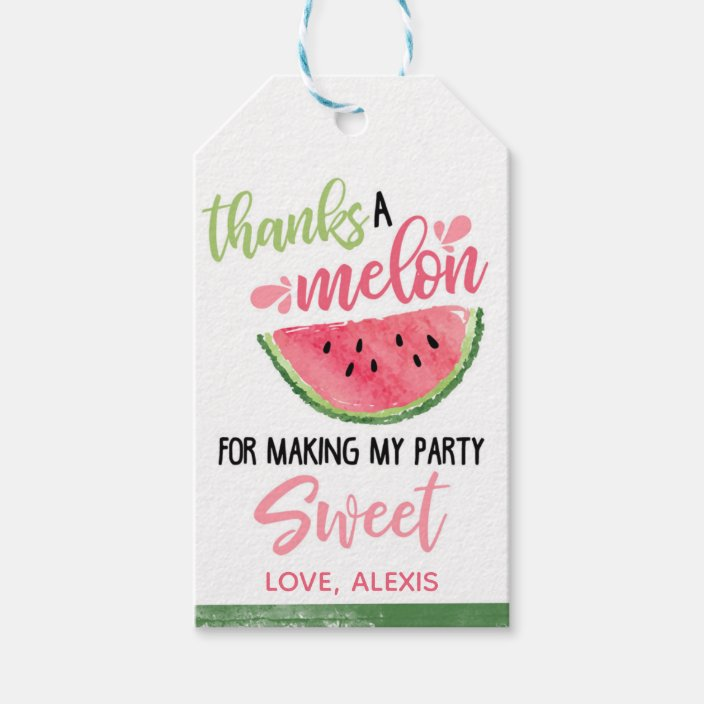 Thank You Tags Watermelon Birthday Tags Watermelon Gift Tags Watermelon Favor Tags