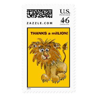 Thanks a milLION Custom Lion Postage