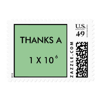 THANKS A MILLION - postage stamps