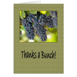 Thanks a Red Grape Bunch Boss s Boss Day Greeting Card