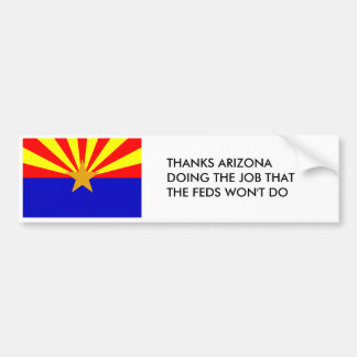 Thanks Arizona Bumper Sticker