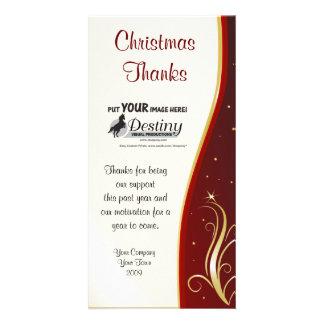 Thanks at Christmas Company Logo Card Photo Greeting Card