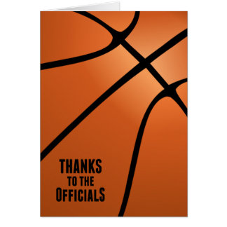 Thanks Basketball Officials for Professionalism Card
