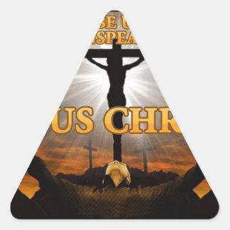 Thanks Be Unto God Triangle Sticker