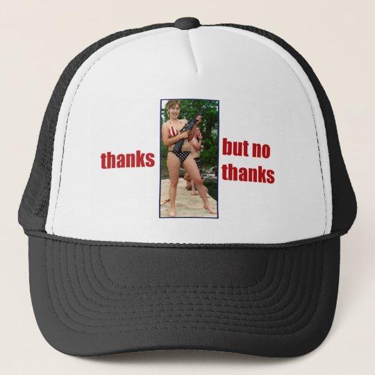 Thanks, but no thanks!  Palin Bikini & Gun hat
