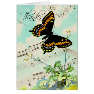 Thanks Butterfly and Music Notes