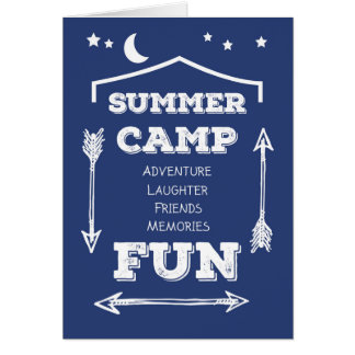 Thanks Camp Counselor Fun Navy Blue, White Arrows Card