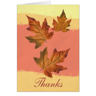 """Thanks"" card with fall leaves -1"