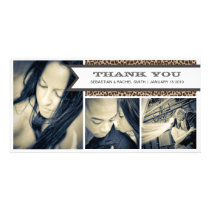 THANKS CHEETAH | WEDDING THANK YOU CARD