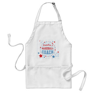 Thanks Coach All-Stars Baseball, Red, Blue Stripes Adult Apron
