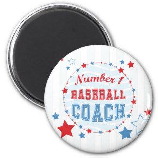 Thanks Coach All-Stars Baseball, Red, Blue Stripes Magnet