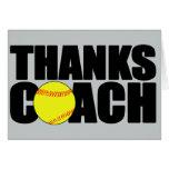Thanks Coach Custom Softball Coach Greeting Card