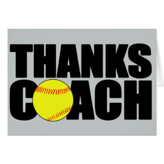 Thanks Coach Custom Softball Coach Greeting Card