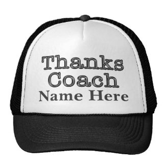 Thanks Coach Hat with Coach's NAME