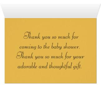 Thanks Cute Adorable Baby Shower Crib Nursery Card