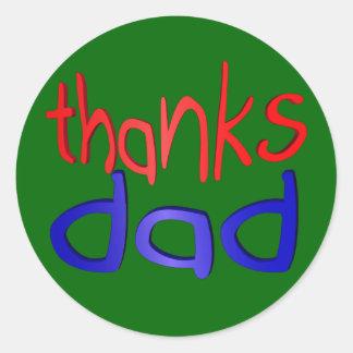 Thanks dad classic round sticker