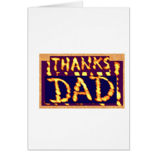 THANKS DAD -  Golden Text  Ideal Fathersday Gifts Greeting Card
