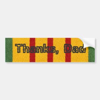 Thanks, Dad Vietnam Vet Child Car Bumper Sticker