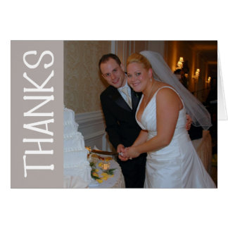 Thanks Felt Tip Thank You Notecard (Sand) Greeting Cards