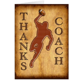 Thanks Football Coach Card Keep Change Inside TEXT
