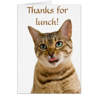 Thanks for a lovely meal stationery note card