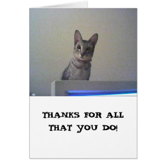 Thanks for all that you do! greeting card