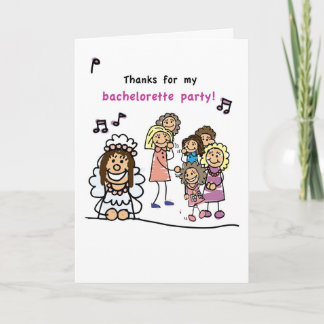 Thanks for Bachelorette Party Thank You Card