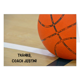 Thanks for Basketball Coach Greeting Card