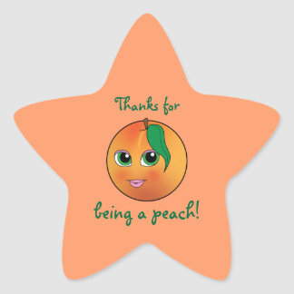 Thanks for Being a Peach! Star Sticker