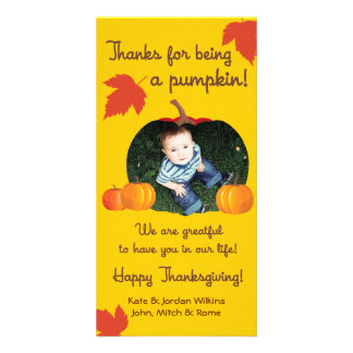 Thanks for Being A Pumpkin Thanksgiving Photo Card