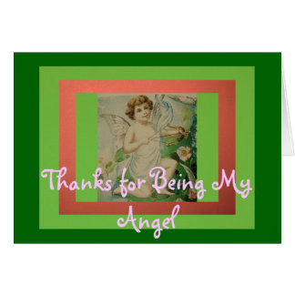 Thanks for Being My Angel Card
