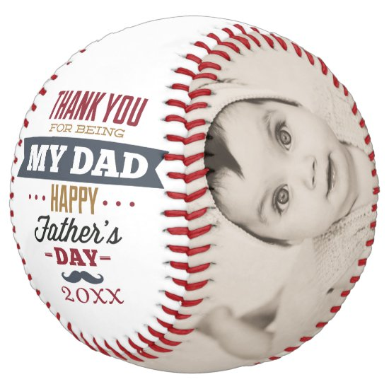 Thanks for being my Dad - Fathers Day Personalized Softball