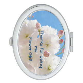 Thanks for being my flower girl compact mirrors