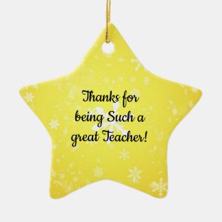 Thanks for being such a great teacher ornaments