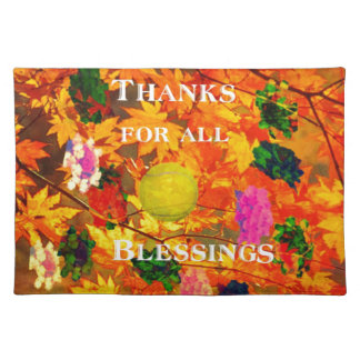 Thanks for blessings cloth placemat