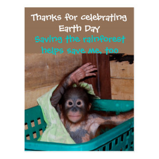 Thanks for Celebrating Earth Day Animal Lover Postcard