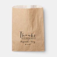 Thanks For Celebrating With Us! Chic Wedding Favor Favor Bag