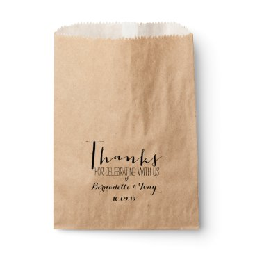 Beach Themed Thanks For Celebrating With Us! Chic Wedding Favor Favor Bag
