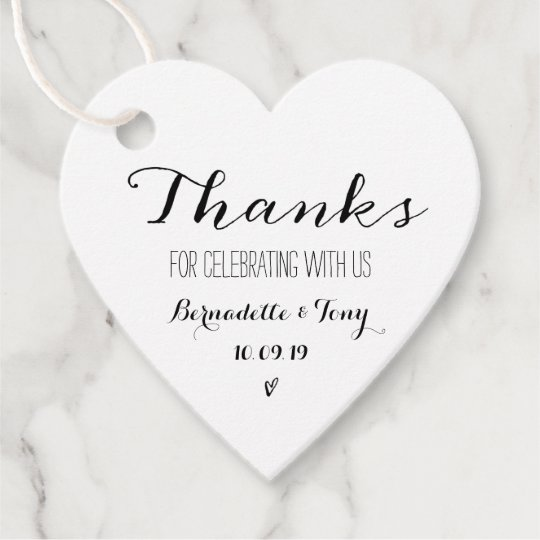 Thank You Wording For Wedding Gifts: Thanks For Celebrating With Us! Wedding Thank You Favor
